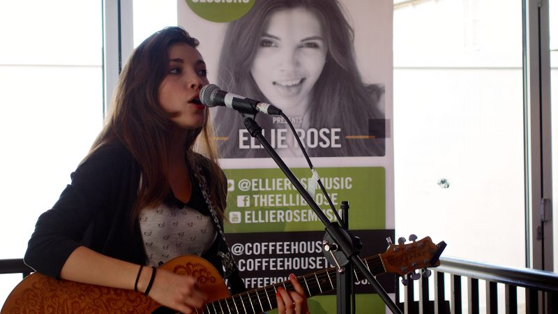 Ellie Rose's Coffeehouse session at the University of Hertfordshire